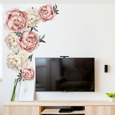 DIY Beautiful Peony Flower Wall Sticker Mural Art Vinyl Decal Home Bedroom Decor