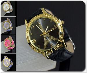 Women's Watch Paris Eifeltum Watch Wristwatches Quartz 6 Colors White Black
