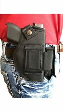 "Ultimate Belt & Clip Gun holster With Magazine Pouch For Walther P-22 W/3.4""BBL"