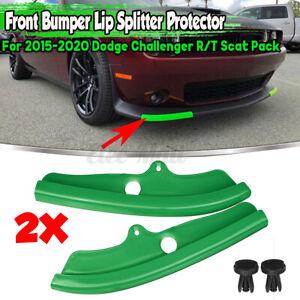 For Dodge Challenger R/T Scat Pack Front Bumper Lip Splitter Protector GREEN