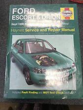 Ford Escort / Orion HAYNES Service/Repair Manual: 1990-2000 H-X REg 1737 PETROL