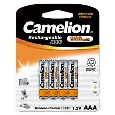 4 x Akku 1,2V  900mAh Micro AAA HR03 NiMH wiederaufladbar von Camelion