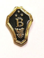 Capital B with Eagle Holding Branch and Arrows on Shield Shape Lapel Cap Pin