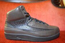 Nike AIR JORDAN 2 II PREMIO BIN 23 RETRO SIZE 9 BLACK DARK CINDER 398277-201