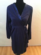 Oh baby by Motherhood Maternity Navy Blue Long Sleeve Wrap Dress Size XL
