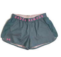 Under Armour Shorts Womens Size Medium Heat Gear Loose Fit Blue/Pink