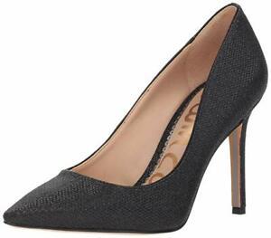 Sam Edelman Hazel Pointed Toe Black Mesh Heels 11109 Size 9 W