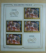 POLISH PAINTINGS Mi1941-48**8 sheetlet of 4stamps and 2 tags,Fi blok57/64**,1969