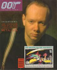 MAGAZINE OOR 1986 nr. 08 - METALLICA / JOE JACKSON / JAMES TAYLOR / PHILIP GLASS
