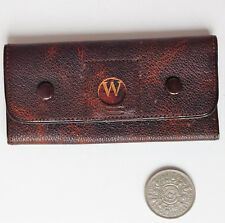 Vintage 1920s key pouch wallet Initial letter W real leather British patents