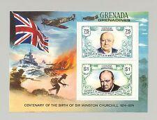 Grenada Grenadines #31, 1974 Churchill, World War II 1v. proof s/s