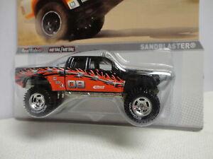 Hot Wheels SANDBLASTER Black & Red PICKUP TRUCK w/RR REAL RIDERS Off Road RACING