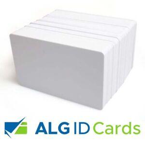 Premium Blank White Plastic ID Cards (CR80, PVC 760 Microns) - FREEPOST