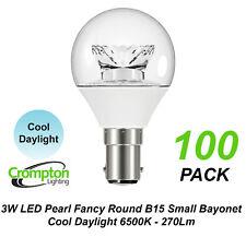 5 X 3w Clear LED Cool Daylight Globes Bulbs Lamps B15 Small Bayonet 6500k SBC