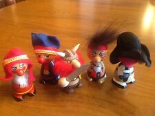 5 Vtg FUFEL TE-RI PRODUCTS Wood Figurines Canada EACH SOLD SEPARATELY