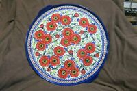 "Polish Pottery CA Unikat 16"" Wide Tray Made In Poland 1690/EX252-2"