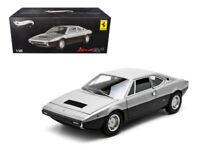 1/18 Hot Wheels Ferrari Dino 308 GT4 Elite Edition Diecast Model Grey X5483