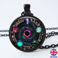 Unisex Wiccan Constellations Pendant Necklace - UK Stock