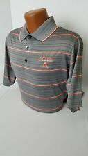 """Antigua TOUR ISSUED Polo """"PERFORMANCE APPAREL"""" TOUR PLAYERS Gray/Peach Polo L"""