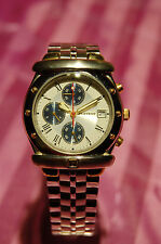 Playboy Timepieces Force Chronograph Silber/Gold mit Etikett Schild