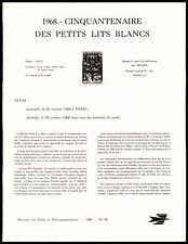 FRANCE AK-BLATT 1968 KINDERSPITAL BAILBY OPER PARIS TREPPE MINISTER SHEET! zb89