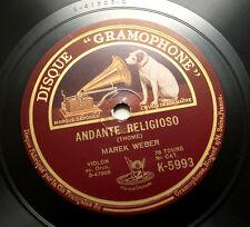 MAREK WEBER violin Adam & Thomé french disque gramophone 1929 K-5993 78 rpm
