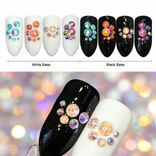 Nail Rhinestones Crystal Shining Flat Bottom Multi-Size Nails Art 3D Decorations