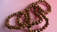 99 Gold Faceted Blotter perles de verre 6 mm (20)