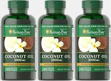 COCONUT OIL 1000mg LAURIC ACID FATTY ACIDS ENERGY BOOSTER SUPPLEMENT 720 SOFTGEL