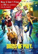 Birds Of Prey Harley Quinn 2020 Movie Poster A5 A4 A3 A2 A1