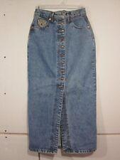 Vtg 90's MOCASSINO MANAGER High waist JEAN Denim PENCIL Wiggle Skirt 26 waist