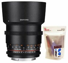 Samyang 85mm T1.5 UMC AS Cine VDSLR II Version 2 Telephoto Lens for Canon EF