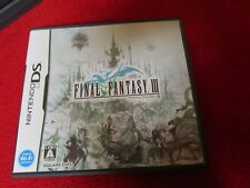 Final Fantasy III 3 Japanese Version Rare & Beautiful role playing game Nintendo