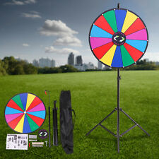 """24"""" Wheel Prize Color Game Dry Erase Spinning Stand Spin Tradeshow Editable Slot"""