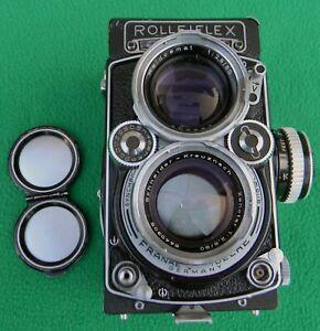 Rollei Rolleiflex Twin Lens Reflex Film Camera With Schneider Xenotar 80mm f2.8