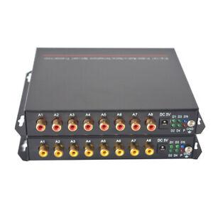 RCA Audio over Fiber Optic Extender Media Converter SC 12.4mi Broadcast Quality