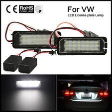 2x LED Number License Plate Light For VW GOLF MK4 MK5 MK6 PASSAT EOS ERROR FREE
