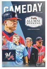 Game Day Program Atlanta Braves August 10-12 2018 Chipper Murphy Cox Alumni Wknd