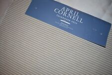 APRIL CORNELL SET OF 4 PLACEMATS, FARMHOUSE CHIC, BEIGE WHITE STRIPE NEW