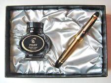 Pilot CUSTOM 823 Plunger 14K Fountain Pen, Gift Box Ink Set, Sheer Brown, F nib