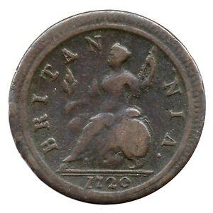 KM# 557 - Halfpenny - George I - Great Britain 1720 (F)
