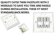 I moduli 2 x cat5e rj45 BEV DOUBLE FACE piastra rete Ethernet 2 porte presa a muro
