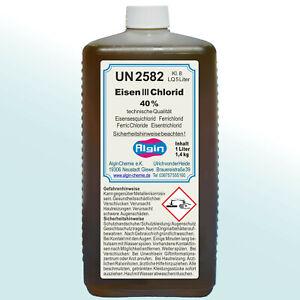 Eisen-3-Chlorid Eisen III Chlorid 1000 ml Ätzmittel Leiterplatten Fällungsmittel