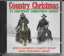 CD COMPIL 14 TITRES--COUNTRY CHRISTMAS SONGS--ROGERS/AUTRY/WELLS/CAMPBELL/SMITH