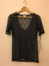 NWT Rodarte for Target Navy Blue Lace Top