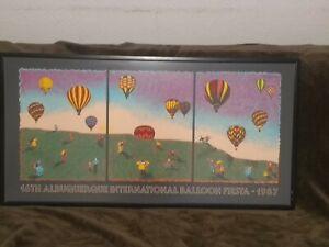 Albuquerque International Balloon Fiesta 1987 Signed LE 1897/5000 Framed Poster