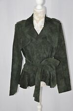 Chelsea & Theodore Womens 14 Peacock Green Corduroy Jacket Deep NEW Button Tie