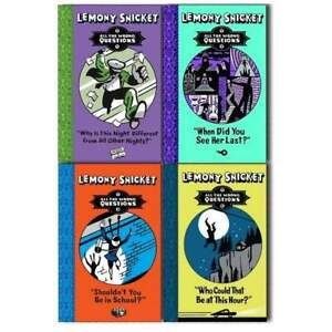 Lemony Snicket All The Wrong Questions 4 Books Set NEW