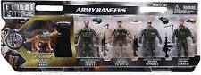 SUNNY DAYS ELITE FORCE ARMY RANGERS 5 PCS FIGURES TOY KIDS MILITARY PLAY SET