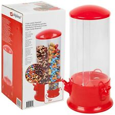 Candy Dispenser Sweet Jar Nuts Cereal Triple Compartment Rotating Kids Children